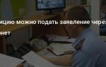 Заявление в полицию через интернет