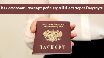 Как оформить паспорт ребенку в 14 лет: подача онлайн-заявки