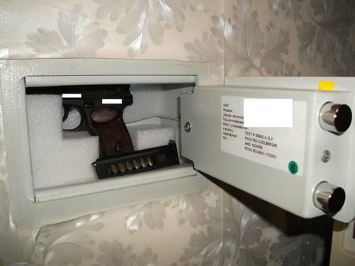 Условия хранения оружия