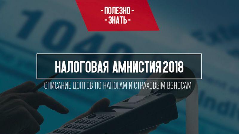 Налоговая амнистия 2018 года для физических лиц и ИП: суть и официальный текст