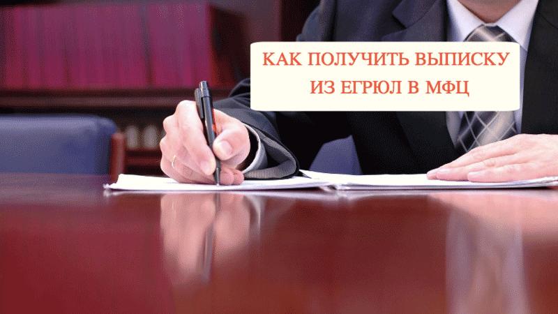 Как получить выписку из ЕГРЮЛ в МФЦ: пошаговая инструкция