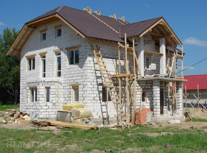 постройка дома на участке