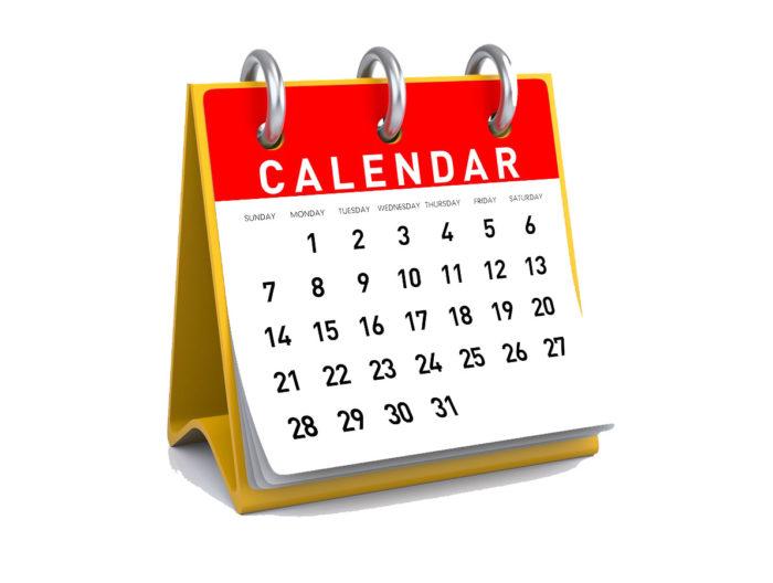 календарь на месяц