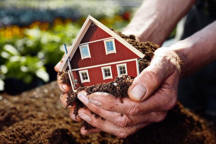 дарение земли с домом