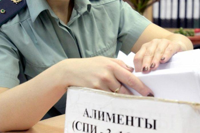 коробка с документацией по алиментам