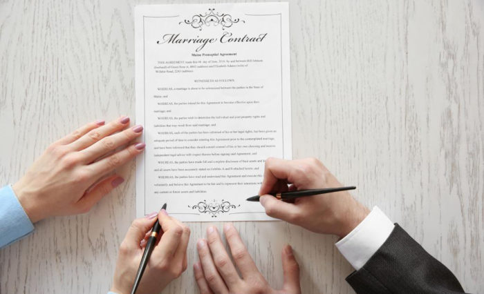 подписи на брачном контакте