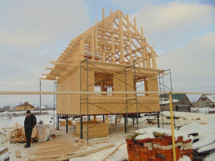 постройка частного дома