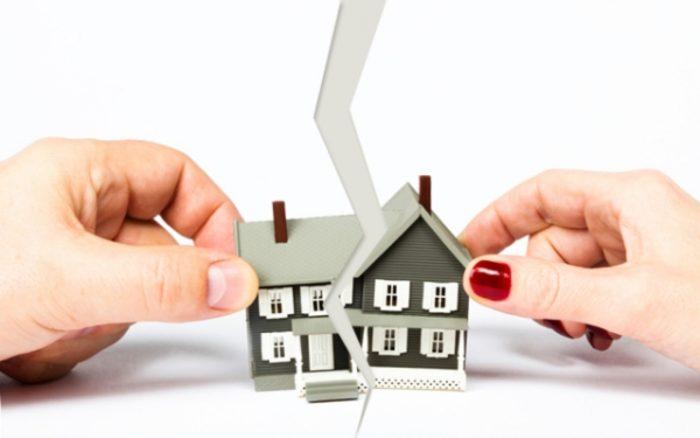 декоратинвый доми, разделенный на части, в руках