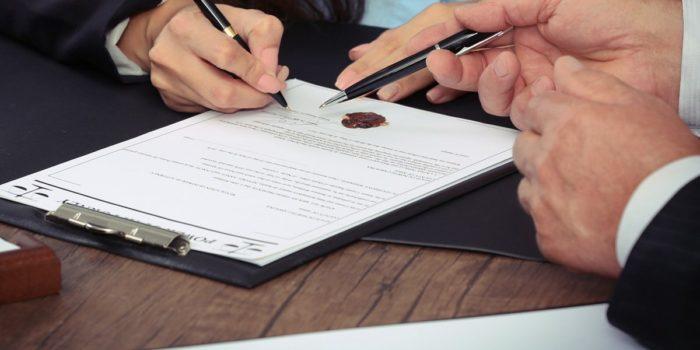 подпись завещания ручкой
