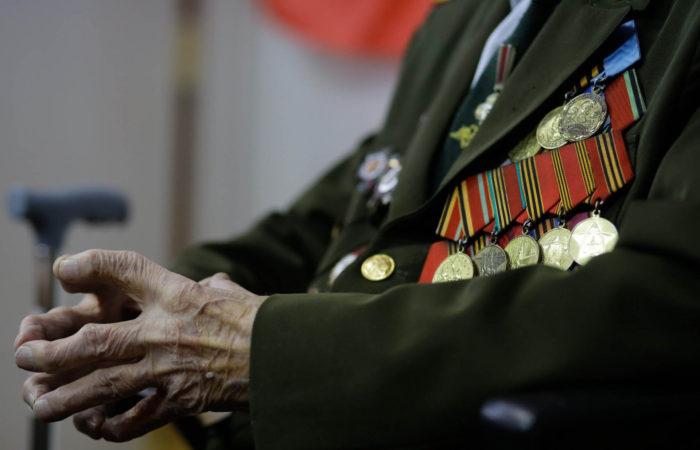 ветеран военный службы в медалях