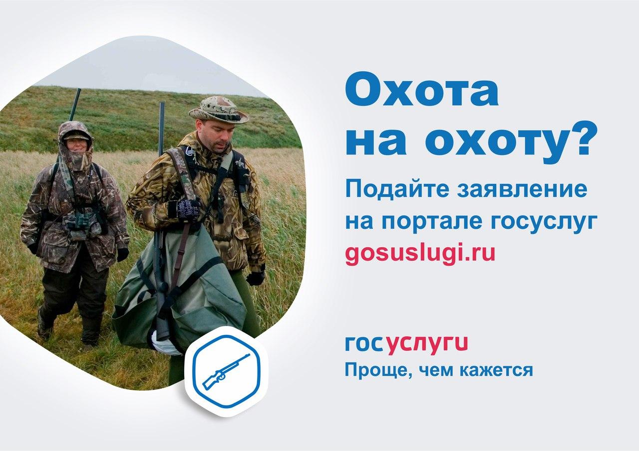 подача заявления на получение путевки на охоту