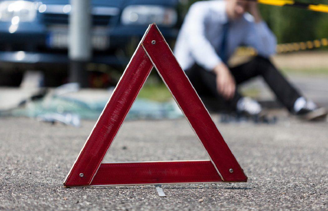 дорожный знак при ДТП