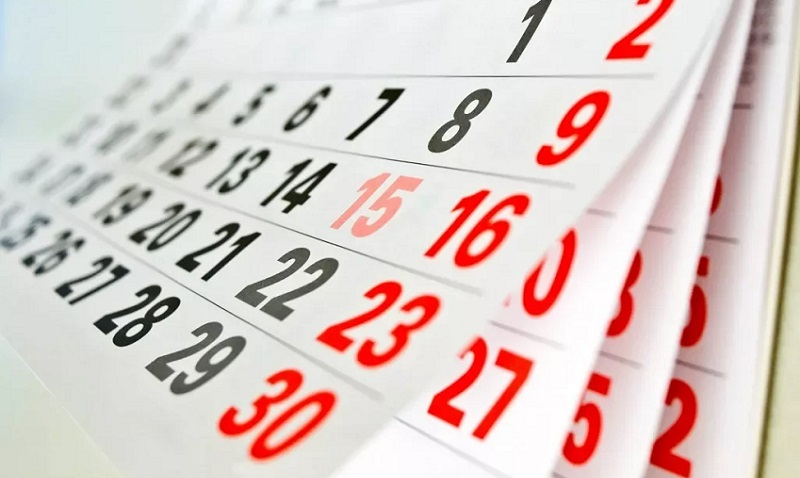 календарь 30 дней