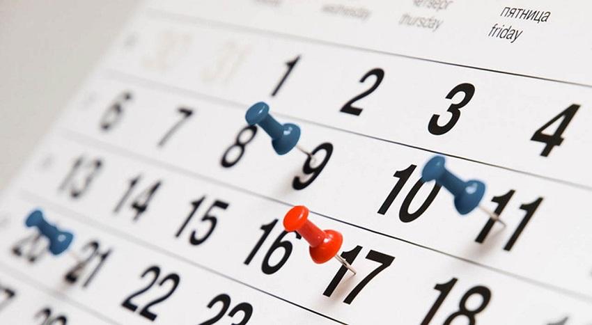 календарь 5 дней