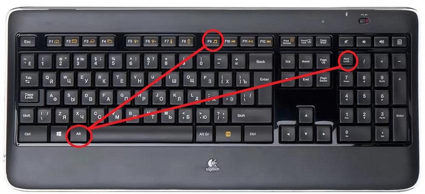 черная клавиатура