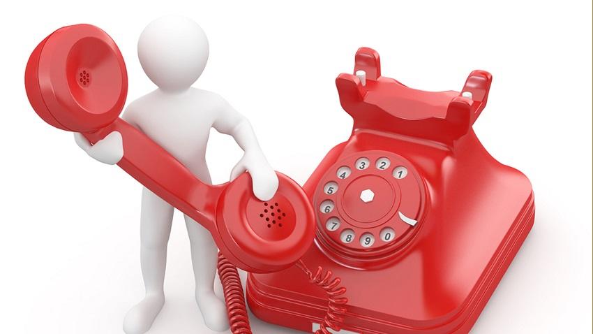 человечек и телефон