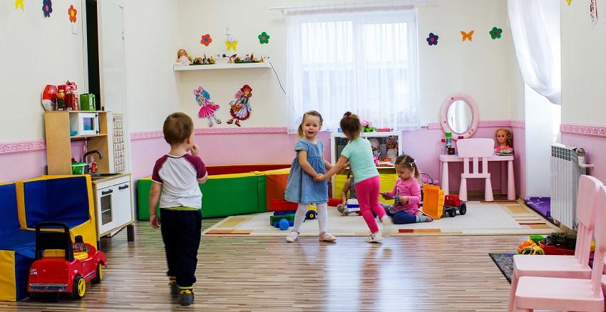 детский садик и дети